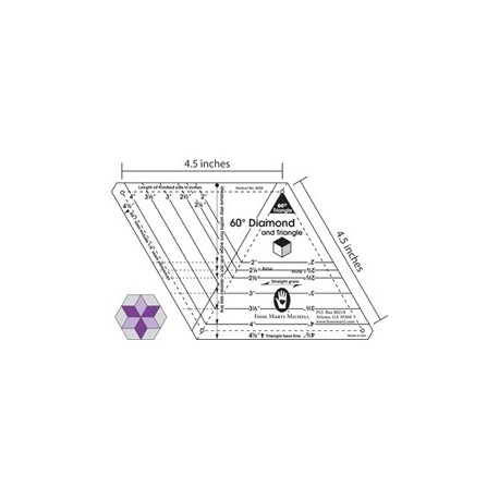 60° Losange et triangle (Diamond)