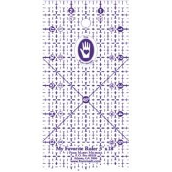 Règle rectangulaire 3 x 18 inch Marti Michell