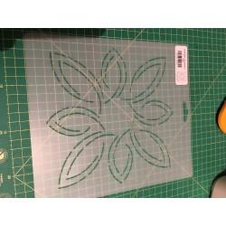Stencil 7 inch - Pear Leaf