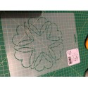Stencil Dancing Hearts - 6 inch