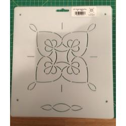 Stencil Anneaux Mariage - 6 inch